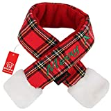 Puppia Weihnachtsmann-Schal, Größe L, kariert, Rot