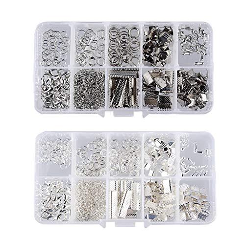 XIANGAI Elegant DIY Jewelry Making Starter Kit Design Beading Findings Set White K & Silver