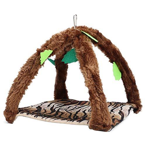 Hffheer Small Animal Hanging Bed Mat Hanging Bed Toy Rat Swing Bag Sleeping Bed Hanging Hammock Nap Sack for Ferret Rat Sugar Glider Small Pet