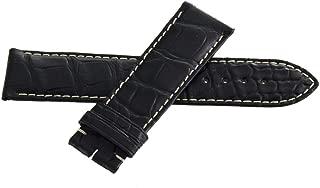 22mm x 20mm Black Alligator Leather Watch Band Strap L682119491