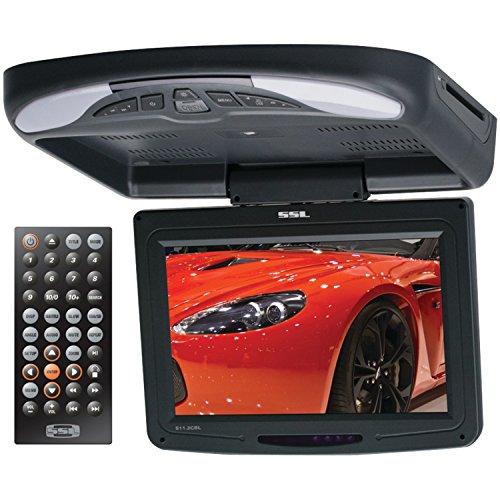 SOUND STORM S11.2CBL 11.2 inch Widescreen Flipdown & Swivel Monitor with DVD player, Wireless Remote