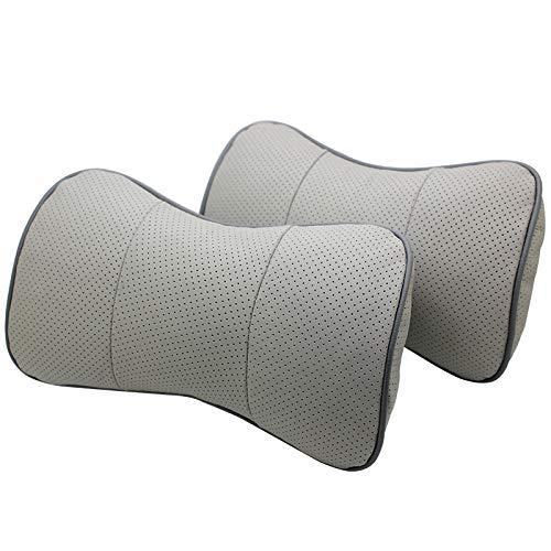 AOWIFT 1 cojín adecuado para Volvo de piel de coche, almohada de cuello de vaca, protector de cuello de coche (no estándar de color gris, 26,5 x 16,5 x 8)