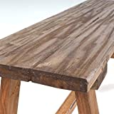 DESIGN DELIGHTS RUSTIKALE HOLZBANK Anzio Bank aus Recycling Holz - 5