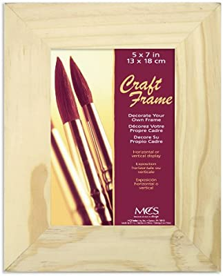 """7""""x7"""" square pine picture frame with mount to fit 5""""x5"""""""
