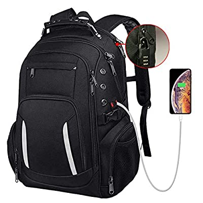 Large Laptop Backpack for Men, 15.6 17 17.3 Inch