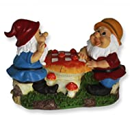 Gnomes Playing Chess Garden Ornament