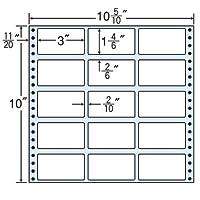 東洋印刷 タックフォームラベル 10 5/10インチ ×10インチ 15面付(1ケース500折) M10D