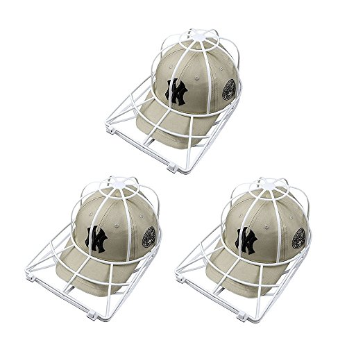Hat Washer for Baseball Caps,3 Pack Cap Washer for Washing Machine & Dishwasher,Baseball Hat Cleaner Protector Shaper for Flat or Curved Bill Ball Caps,Cap Frame Rack,Hat Washing Cage Holder (3 Pack)