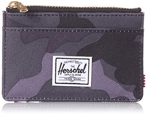 Herschel Oscar RFID - Tarjetero para Hombre Negro Camuflaje Talla única