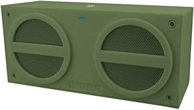 iHOME IBN24MX iHOME Military Green iBN24 NFC Bluetooth Rechargeable Mini Stereo Speaker with Rubberized Finish