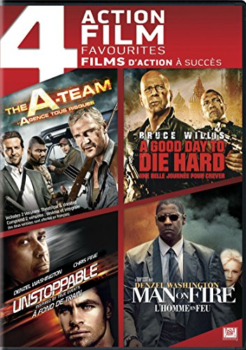 The A-Team / A Good Day to Die Hard / Unstoppable / Man on Fire (4 Action Feature Film)