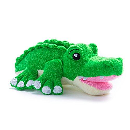 Soapsox - Esponja de baño para niños Disponible en Personajes adorables. Se Puede Lavar a máquina. Alligator