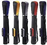 Golftasche/Pencilbag/Reisebag/Rangebag/Pistolbag/Tragebag mit integrierter Schutzhaube und Außentasche | für bis zu 8 Schläger | 1 Pack Killagolf©-Tees Free (Silber-schwarz)