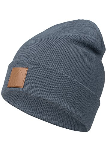 Occulto Leatherpatch Winter Mütze Beanie (Navy)