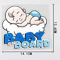 ステッカー 車 14.1cmx13.6cmの赤ちゃんの車の上の車のステッカー眠っている赤ちゃんPVC Decal Lovely ステッカー 車 (Color Name : 13A 0077)