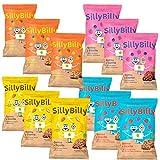SillyBilly Pack Degustación Cuadraditos de Espelta y Quinoa: 3 bolsas de cada una de las 4 variedades. (Pack 12 bolsas)