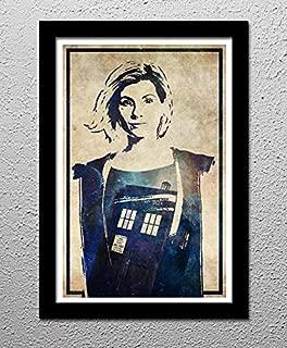 Doctor Who 13th Dr Jodie Whittaker Tardis - Original Minimalist Art Poster Print