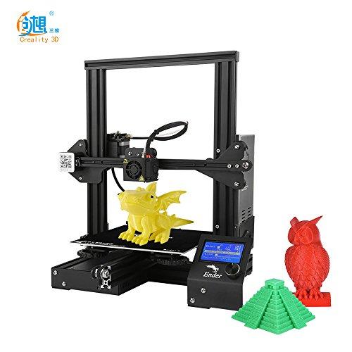 Leslaur Creality 3D Ender-3 Imprimante 3D DIY de haute précision s'auto-assemblent 220 * 220 * 250mm taille d'impression avec la fonction d'impression de résumé