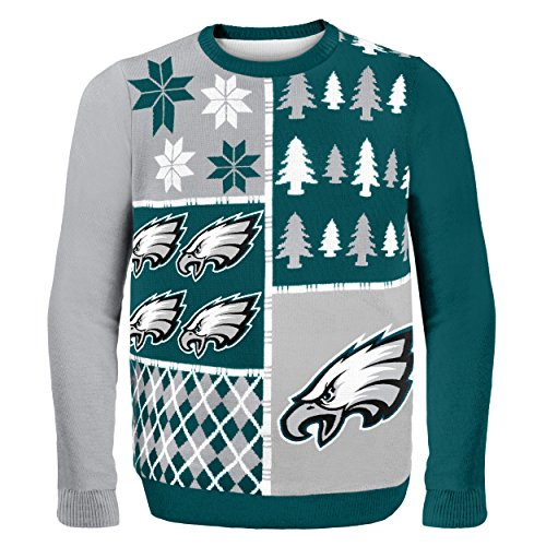 Klew NFL Pullover Busy Block, Herren, SWTNFUGYBBLKPEM, Philadelphia Eagles, M