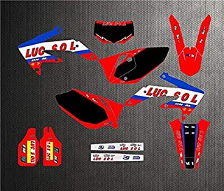 Customized Number Full Sticker Kit Graphics Backgrounds Decal For Honda CRF450X 2005-2012 CRF 450X 2011 2010 2009 2008 2007 (Model 3)