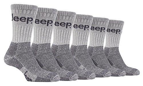 6 paia di calzini passeggiate suola imbottita alevros Jeep 39-45 eur