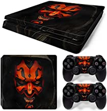 FriendlyTomato PS4 Slim Skin and DualShock 4 Skin - Star Warriors - PlayStation 4 Slim Vinyl Sticker for Console and Controller Skin