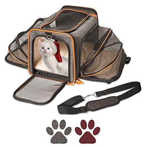 Pet Peppy Transportín para mascotas, aprobado por las compañías aéreas, de calidad...