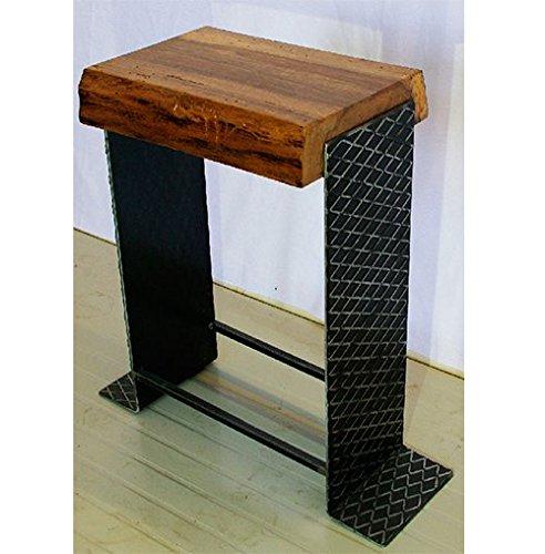 Wood Lab Tabouret : Modèle Biscuit strié Haut, H 63 cm