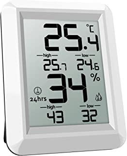 ORIA Temperature Humidity Monitor, Digital Hygrometer Thermometer, Thermometer Hygrometer Indoor, ℃ and ℉ Switch, LCD Scre...