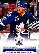 (CI) Doug Gilmour Hockey Card 2017-18 Toronto Maple Leafs Centennial (base) 191 Doug Gilmour