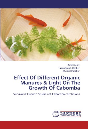 Effect Of Different Organic Manures & Light On The Growth Of Cabomba: Survival & Growth Studies of Cabomba caroliniana