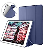 DTTO Case for iPad Mini 4,(Not Compatible with Mini 5th Generation 2019) Ultra Slim Lightweight Smart Case Trifold Stand with Flexible Soft TPU Back Cover for iPad mini4[Auto Sleep/Wake], Navy Blue