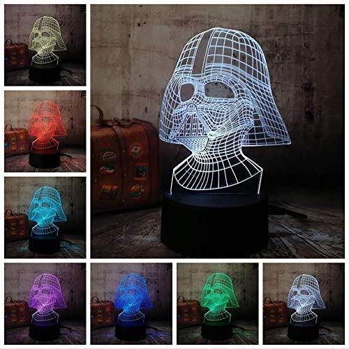Nachtlicht Illusion Lampe Krieg der Sterne Figur Darth Vader 3D Led 7 Farbe Schlaf Touch Senser USB Tisch Illusion Stimmung Dimmen Lampenglanz