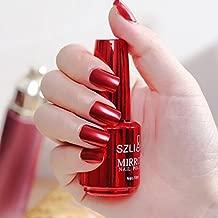 chrome nail polish red