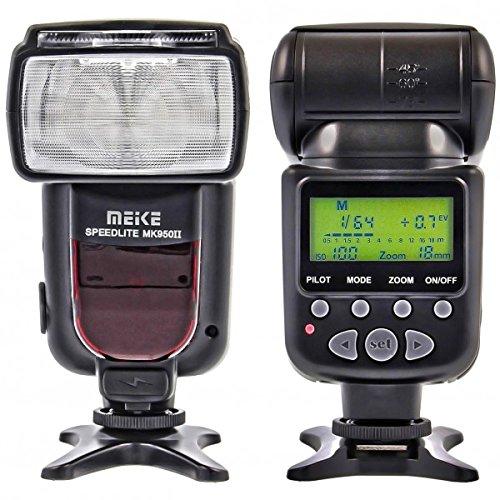 Meike 950II Flash (LZ 53) per fotocamere Canon DSLR, TTL compatibile, Master Slave, Second Curtain Sync ecc.