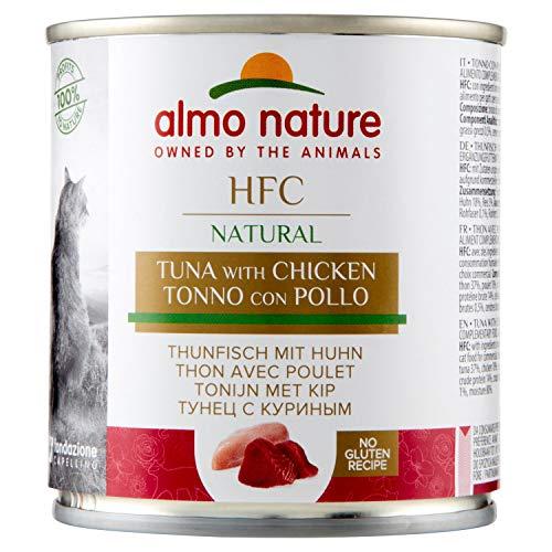 Almo Nature HFC Natural Tonno e Pollo Umido Naturale, Cibo per Gatti - 280 g, Confezione da 12 pezzi