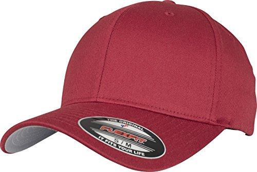 Flexfit Flexfit Unisex-Erwachsene Wooly Combed 6277 Mütze, Rot (rose brown), L/XL