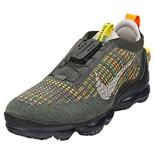 Nike Hombres Air Vapormax 2020 FK Flyknit CW1765 (Newsprint/Black/Opti Yellow/College Grey 001), color, talla 46 EU