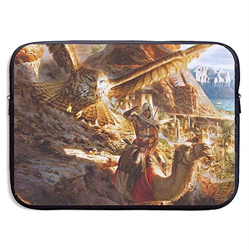 BLANKNTC Notebook Sleeve Hülle,Laptop Aktentaschen,Wasserdicht Notebooktasche,Bussiness Laptoptasche,Assassins Creed Origins Laptop Schutzhülle,Tablet Schutzhülle,Schutzhülle 13in