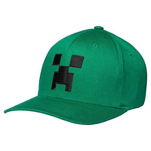 Creeper Minecraft Baseball-Mütze, offizielles Produkt, Grün, für Kinder, Sommer, Alter 5 – 12 Jahre, grün
