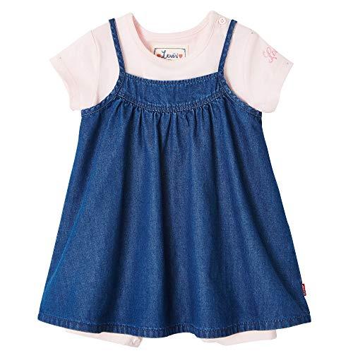 Levi's Kids NN37504 46 Outfit, Ensemble Bébé Fille, Bleu (Indigo 46), 3 Ans (Taille Fabricant:36M)