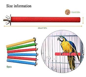 Hcpet Perchoir Perroquet, 6 PCS Oiseaux Perches Perroquet Stand Jouet Formation Interactif Oiseau Cage Perches Perroquet Jouer Jouet