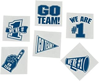 Fun Express Blue Go Team We are Number 1 Tattoos (Set of 72) School Spirit Supplies