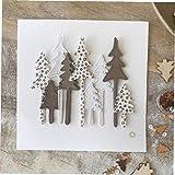 La Tala De Árboles De Navidad Tarjeta De Papel De Scrapbooking De La Plantilla De Metal En Relieve Carpeta Plantilla del Arte De DIY