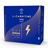 L CARNITINA Liquida 3000 mg.Suplemento Deportivo L-Carnitina Natural-Quemagrasas Líquido-Alta Absorción-Mejor Rendimiento.20 Viales-Facil Apertura-No se Rompen. VEGANO. N2 Natural Nutrition