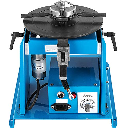 VEVOR Mesa Giratoria de Soldadura 10 kg, Mandril de Posicionador de Soldadura 15 W, 2-20 rpm Ángulo de Inclinación 0-90° Placa Giratoria de Soldadura 220 V/50 Hz para Sujeción de Piezas de Trabajo