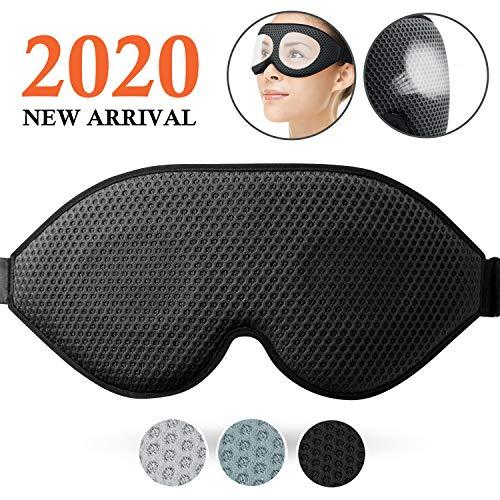 100/% Seide Augenmaske,Augenmaske Nachtmaske Verstellbarem Gummiband,Atmungsaktive Augenklappe verhindert alles Lichtt,Augenbinde zum Schlafen Schlafmaske Damen und Herren Yoga f/ür Reisen