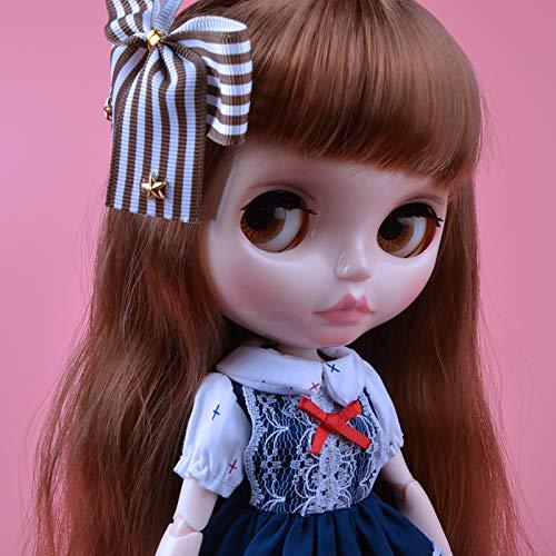 YUMMON el de 12 Pulgadas muñeca Desnuda es Similar a la muñeca del bjd Blyth, muñecos Personalizados se Pueden Cambiar Maquillaje y Vestido de muñecas DIY YM08