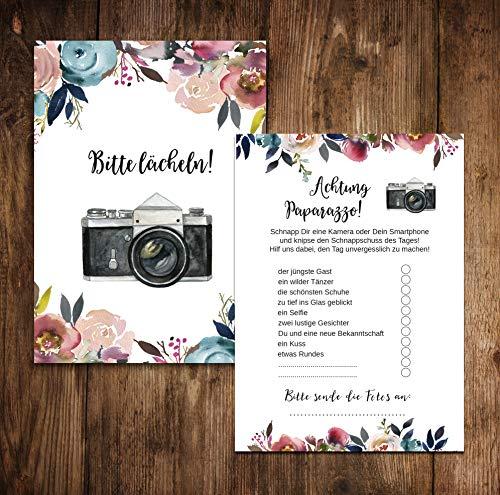 """Hochzeitsspiel   Fotoralley """"Boho Design"""" 50 Stück - 3"""