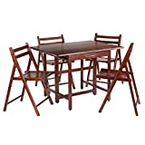 Winsome Wood Taylor 5-Pc Set Drop Leaf Table W/ 4 Folding Chairs